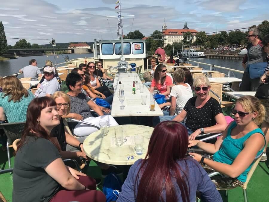 Unsere Bootsfahrt auf der Weser