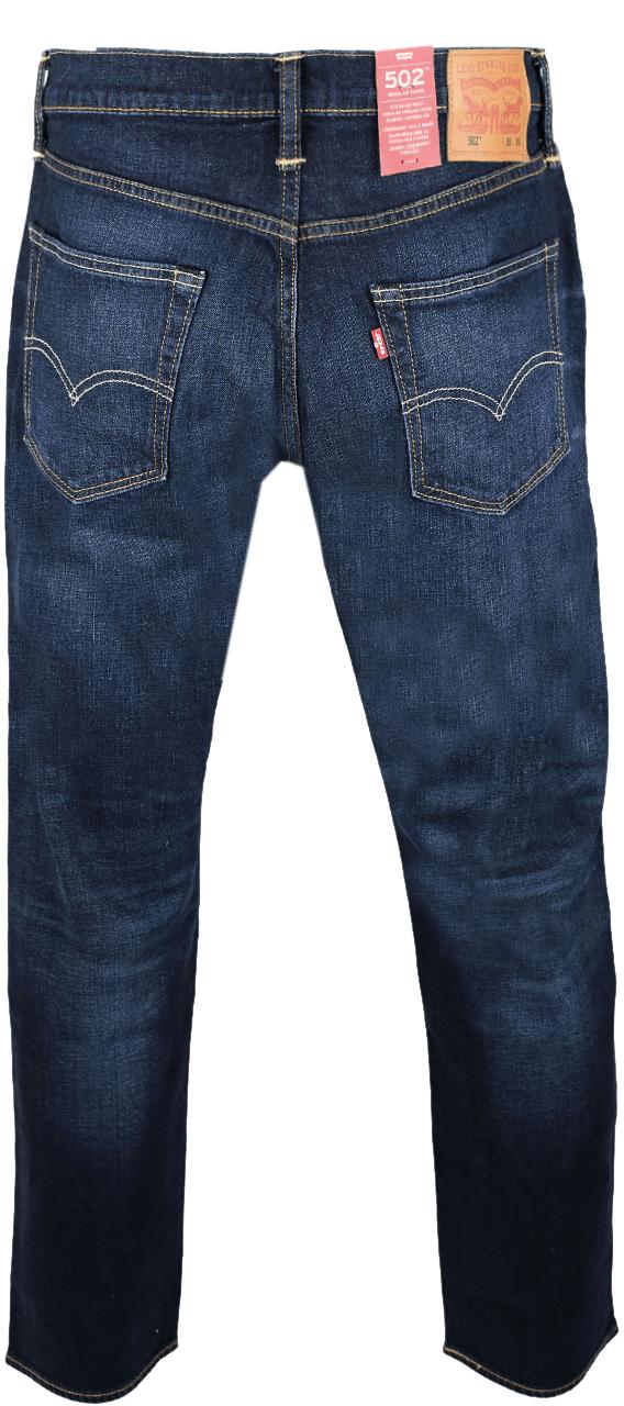 Levis 502 Jeans Deep Blue Washed Hinten
