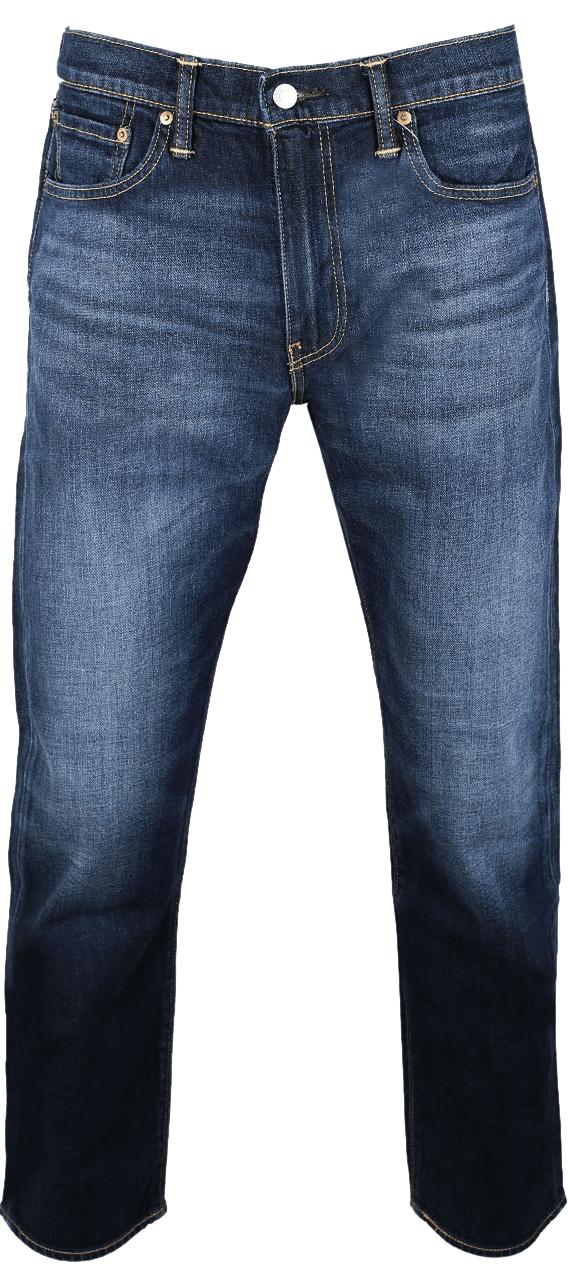 Levis 502 Jeans Deep Blue Washed Vorne