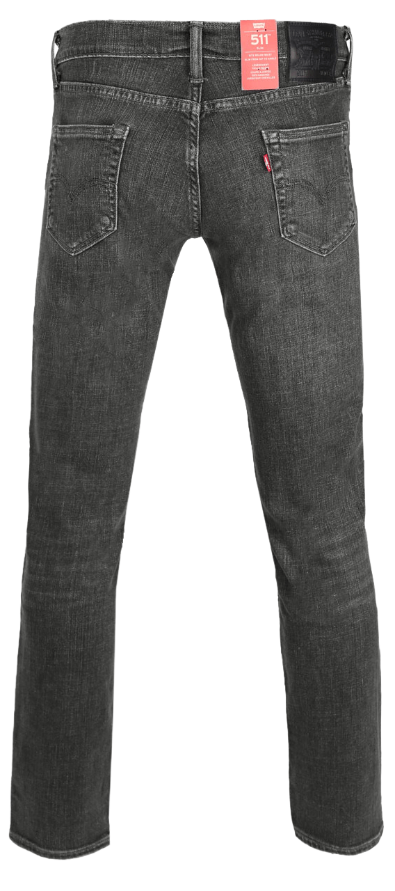 Levis 511 Slimstretch Greywashed Hinten
