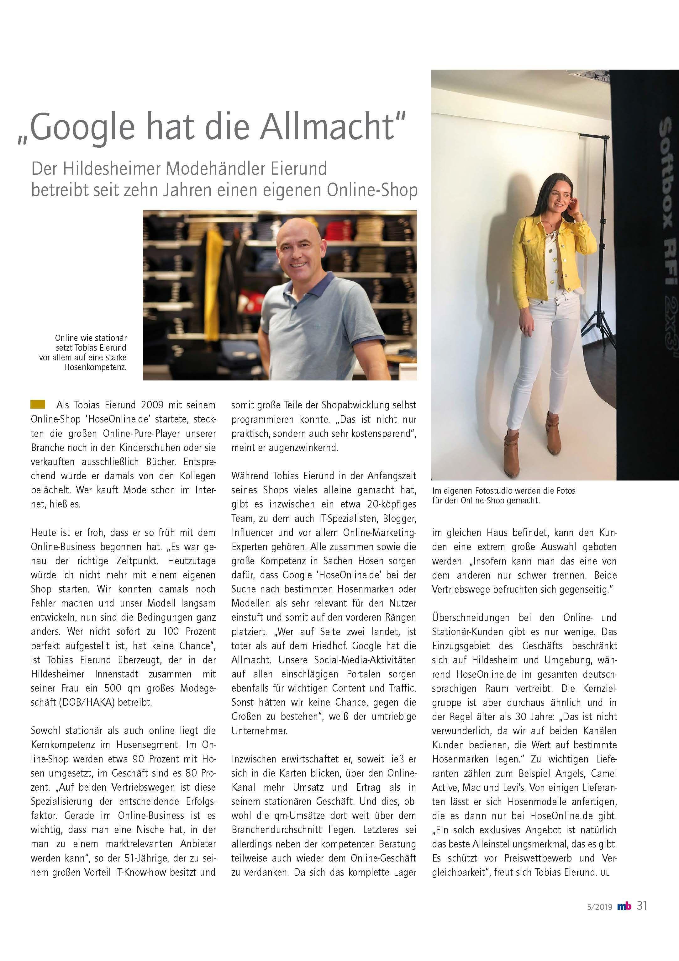 HoseOnline BTE Magazin