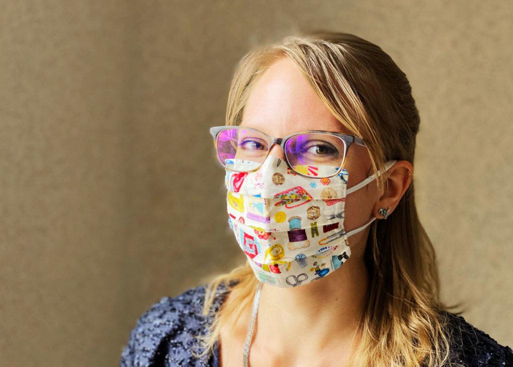 Maske selbst genäht