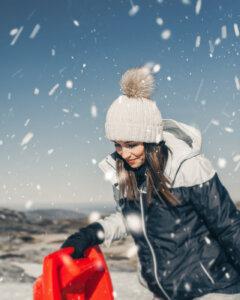 Winterliche Sportbekleidung