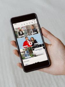 Smartphone mit App von HoseOnline