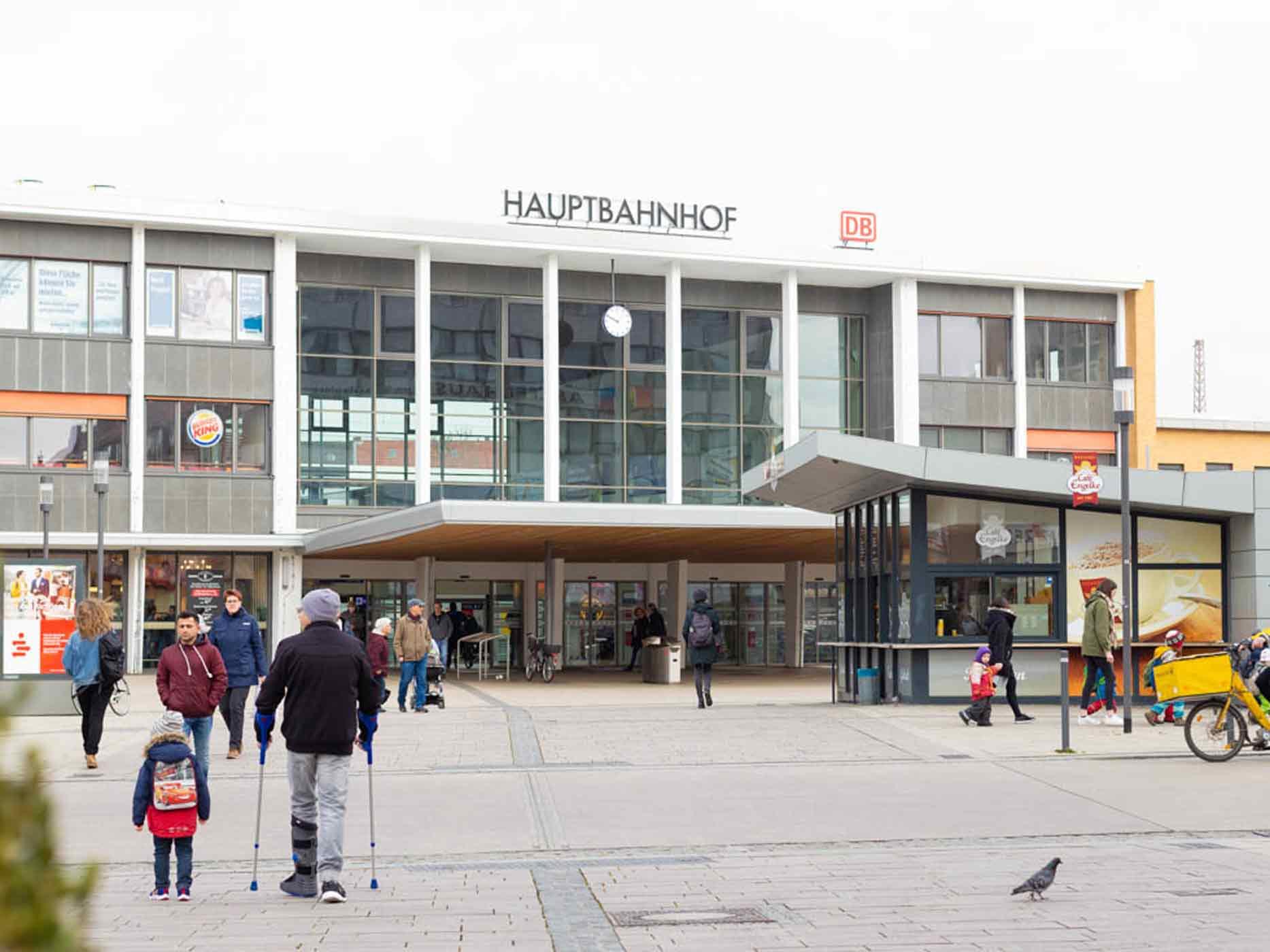 Das Bahnhofsgebäude in Hildesheim